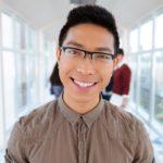 smiling college boy